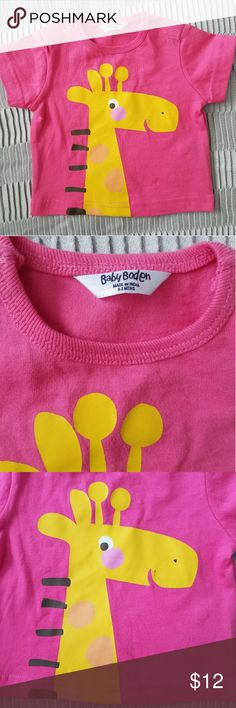 Baby Boden Girls 0-6m Pink Short Sleeve Baby Boden Girls 0-6m Pink Short Sleeve T-Shirt. Giraffe print has a few spots, pictured. Otherwise in very good condition. 100% Cotton.   Offers/bundles welcomed. See my page for more! Pet/smoke free home. Boden Shirts & Tops Tees - Short Sleeve