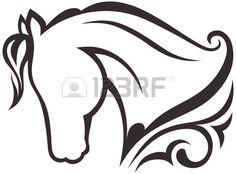 pour entrainement dessin à la douille - silhouette cheval