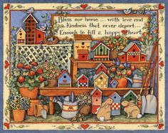 country birdhouse blessing art-Susan Winget