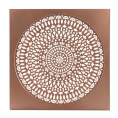ADHIRA COOPER metal wall decoration, copper effect, W 50 cm