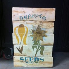 My vintage seed sign!!!! Pallet art!