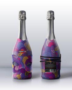 Martini Art by Alexandra Istratova, via Behance.  Love the purple and design. Very appealing IMPDO.