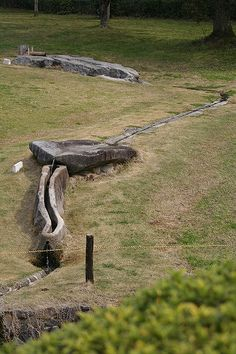 Asuka japan megaliths - My note: Imagine the difficulty of cutting this channel out of this narrow outcrop of stone -- the builders of this fountain like many of the megalith builders must have had a very different world view than ours.