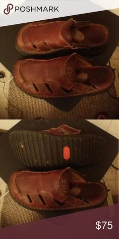 Shoes Dark Brown backless. GUC. Worn only 4 times. Alot of miles left on these shoes. Born Shoes Sandals