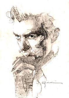 David Bowie by Bill Sienkieiwcz *