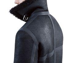 Acne Studios Ian shearling black Shearling aviator jacket