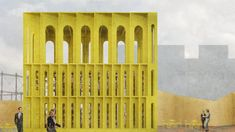 New Horizons Programme at London Festival of Architecture New Horizon Yellow Pavilion. Courtesy of Hall McKnight Architects.