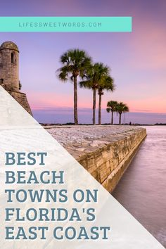Experience some of the best beach towns across Florida's East Coast! Beautiful Places To Visit, Beautiful Beaches, Florida East Coast, Florida Adventures, Top Destinations, Florida Vacation, Beach Town, Rv Life, Travel Around
