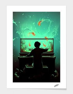 """Curioos.com   """"Le Pianoquarium"""" by ROLANDO Cyril  - Gallery Quality Art Print"""