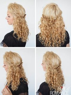 Hair Romance - 30 Curly Hairstyles in 30 Days - Day 13 - The rosette braid