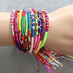 Fashion jewelry promotion store,Supply all kinds of cheap fashion jewelry Color woven bracelet - Cheap Charm Bracelets, Woven Bracelets, Handmade Bracelets, Hippie Bracelets, Ankle Bracelets, Silver Bracelets, Cheap Fashion Jewelry, Fashion Bracelets, Unique Fashion