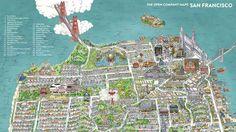 O du kunterbuntes San Francisco –nie kam es so gut rüber wie auf dieser Stadtansicht