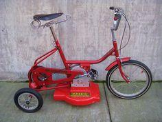 sunkyong bicycle lawnmower on display | Classic Cycle Bainbridge Island Kitsap County