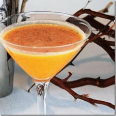 Vanilla Pumpkin Pie Martini ~ **** INGREDIENTS *** 2 parts Absolute Vanilla vodka 1 part pumpkin schnapps Splash of cream Nutmeg Garnish: Cherry    *** DIRECTIONS ***  Mix all ingredients in a cocktail shaker with ice. Shake well, then strain into a martini glass. Sprinkle with nutmeg, and garnish with a marachino cherry (optional).