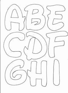 Lots on printable letter fonts! Stencil Lettering, Hand Lettering Alphabet, Lettering Tutorial, Alphabet Letter Templates, Letter Stencils, Printable Letters, Alphabet And Numbers, Letter Fonts, Disney Letters