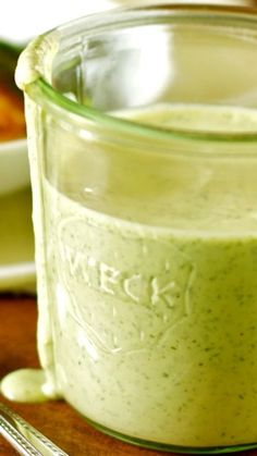Green Goddess Dressing Recipe ~ not only great on green salads, but also on potato or pasta salads. It makes a wonderful, savory dip for vegetables and as a sauce to accompany shrimp, chicken, or poached salmon.