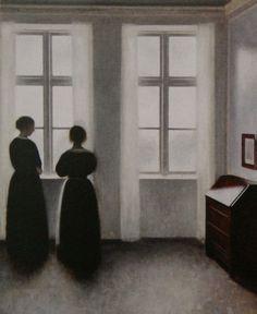 Vilhelm Hammershoi, Personnages près de la fenêtre (1895)
