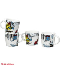 Moomin winter season mug only made as a limited set. The mug is based on Tove Jansson's original artwork which Tove Slotte has interpreted in this lovely mug, manufactured by Arabia. Moomin Shop, Kitchenware, Tableware, Tove Jansson, Small Spoon, Nordic Style, Winter Season, Holiday Fun, Original Artwork