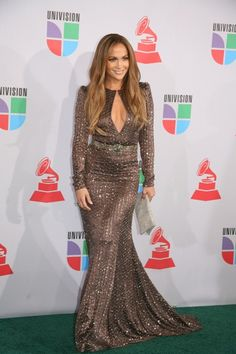 Jennifer Lopez dazzles at the Latin Grammys