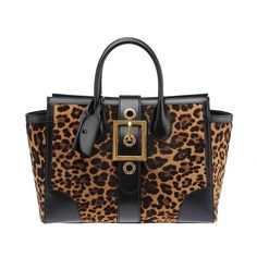 Gucci+Lady+Buckle+Leopard+Print+Pony+Hair+and+Black+Leather+Shoulder+Tote+ +From+a+collection+of+rare+vintage+tote+bags+at+https://www.1stdibs.com/fashion/handbags-purses-bags/tote-bags/