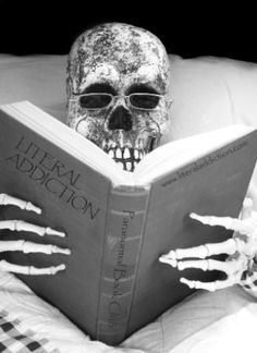 I will probably die with a paranormal book in my hands like the picture :) Literal Addiction Paranormal Book Club