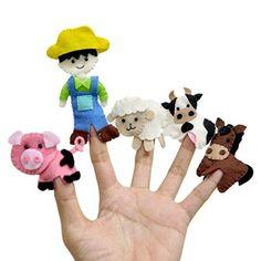 Felt Puppets, Puppets For Kids, Felt Finger Puppets, Polymer Clay Kawaii, Polymer Clay Animals, Puppet Crafts, Felt Crafts, Finger Puppet Patterns, Felt Monster