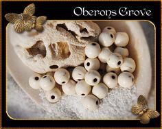 30 Magnesit Perlen beige 6mm von OberonsGrove auf Etsy