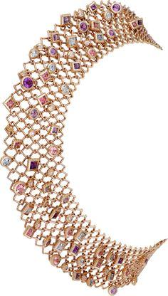CARTIER PARIS NOUVELLE VAGUE NECKLACE Pink gold, amethysts, aquamarines, tourmalines, spinels, diamonds REF: H7000089