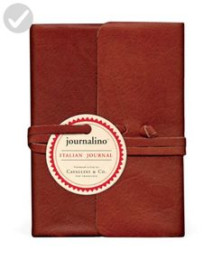 Cavallini Papers Journalino Leather Journal, 3.25 by 4.25-Inch, Persimmon - Little daily helpers (*Amazon Partner-Link)