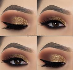 10 melhor ideia de make dourado | ideias de maquiagem, dicas de maquiagem,  maquiagem