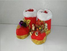 como hacer botas de navidad con botellas de plastico tutorial manualidad...