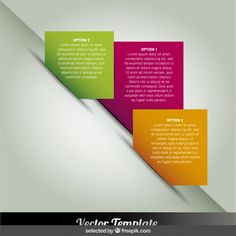 Squared infographics steps in diagonal Free Vector