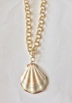 Shell necklace with unique stylish gold plated chain, shell pendant, summer necklace, FREE SHIPPING Shell Jewelry, Shell Necklaces, Jewelry Box, Summer Necklace, Boho Necklace, Pendant Necklace, Cute Slippers, Boho Sandals, Shell Pendant