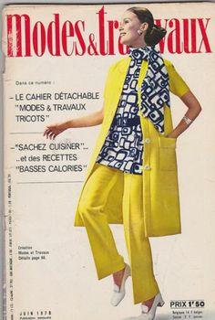 June 1970 Modes Travaux Vintage Fashion Magazine French | eBay