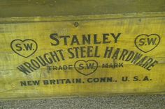 The Stanley Works Stanley Tools, New Britain, Vintage Tools, Tool Box, Connecticut, It Works, Advertising, Boxes, Crafting