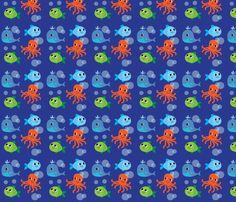 cute fish fabric by fhiona on Spoonflower - custom fabric