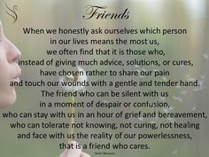 Grief Reading Friends When we honestly ask ourselves which person in our lives means the most us, Swanborough Funerals Phone 1800 100 411 Best Friend Poems, Best Friend And Lover, Best Friends, Amazing Friends, Funeral Readings, Funeral Poems, Family Meme, High School Days, Memories Quotes