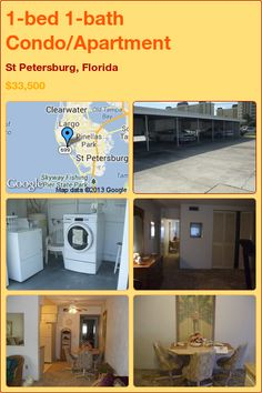 1-bed 1-bath Condo/Apartment in St Petersburg, Florida ►$33,500 #PropertyForSale #RealEstate #Florida http://florida-magic.com/properties/1966-condo-apartment-for-sale-in-st-petersburg-florida-with-1-bedroom-1-bathroom