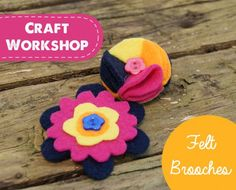 DIY Tutorial On Making Handmade Felt Brooches With Free Template .. 2015 - 2016 http://profotolib.com/picture.php?/41177/category/1702