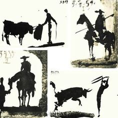 Picasso's Bullfight Set (set of four prints) Art Print by Pablo Picasso at Urban Loft Art
