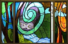 Canticle of Creation stained glass window, by SM Ann Therse Kelly