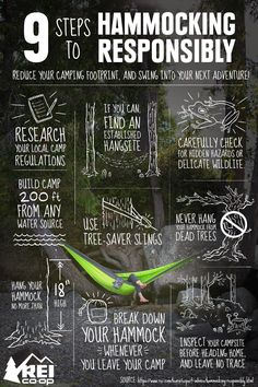Reduce your camping footprint and swing into your next adventure. #LetsCamp