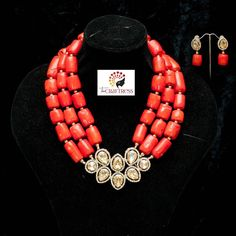 Coral neck pieces are always so gorgeous... They'll immediately make you look like the queen you are  Meet 'Anino'  buzz if you want her.  #TheCraftress #TheCraftressOnTheStrings #HandCraftedWithLove #Beads #Coral #CoralBeads #Jewelry #JewelryDesigner #NigerianJewelry #Style #Silver #Gold #yorubawedding #bellanaijaweddings #Royalty #Royals #StatementNecklace #Dainty #Bride #NigerianBride #WeddingGuest #Bespoke #HandCrafted #HandMade #SpecialOccasions #TraditionalWedding #Gift