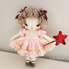 Handmade Rag Doll by BadWitch Cloth doll Art Doll by badwitch,