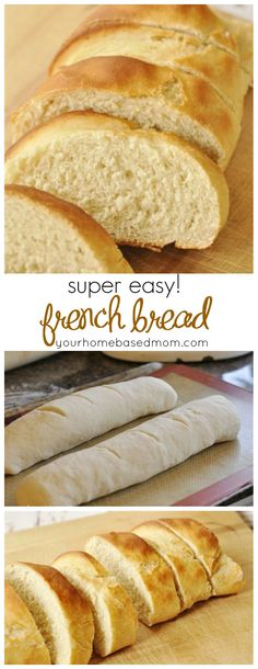 Easy French Bread. Makes 2 loaves.