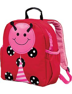 Hanna Andersson small backpacks, perfect size for preschoolers. Super cute and fun for them to load and carry their own toys.