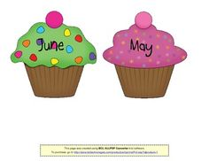Birthday Cupcakes (for bulletin board) image 3