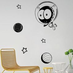 5.35$  Buy now - http://di5y3.justgood.pw/go.php?t=208222101 - Cartoon Star Space Pattern Removable Wall Stickers