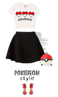 """gotta catch 'em all"" by mimaspics ❤ liked on Polyvore featuring Neil Barrett, Shoe Republic LA and pokemonstyle"