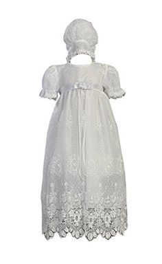 White Embroidered Tulle Lace Christening Baptism Gown Size M (6-12 M) Swea Pea & Lilli http://www.amazon.com/dp/B0030355AE/ref=cm_sw_r_pi_dp_On4Wvb14PX96F